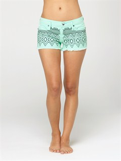 CBWBlaze Embroidered Cut Offs Jean Shorts by Roxy - FRT1