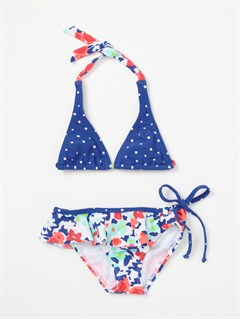 WHTGirls 2-6 Blooming Bliss Rio Halter Bikini Set by Roxy - FRT1