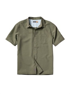 GRNMen s Deep Water Bay Short Sleeve Shirt by Quiksilver - FRT1
