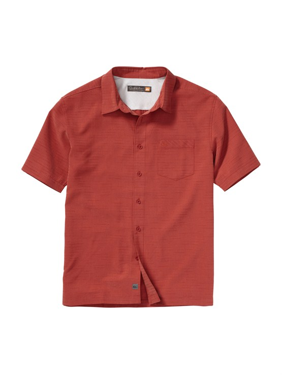 NPQ0Men s Aganoa Bay Short Sleeve Shirt by Quiksilver - FRT1