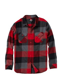 RRD1Men s Beacon Point Long Sleeve Flannel Shirt by Quiksilver - FRT1