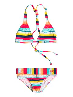 MLJ3Girls 7- 4 Beach Bound 70s Halter Set With Cups by Roxy - FRT1