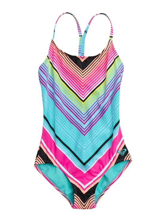 MLW7Girls 7- 4 Roxy Border Rashguard by Roxy - FRT1