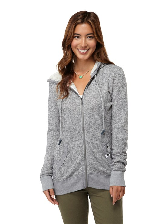 KPV0Glacial 2 Zip Up Hooded Fleece by Roxy - FRT1