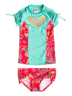 BHF0Girls 2-6 Beach Bound Rashguard by Roxy - FRT1