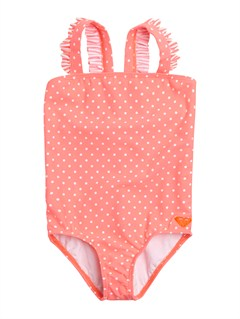 MHT7Girls 2-6 Doll Face Ruffle One Piece Swimsuit by Roxy - FRT1