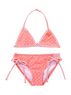MKL7Girls 2-6 Doll Face Tiki Tri Set Swimsuit by Roxy - FRT1