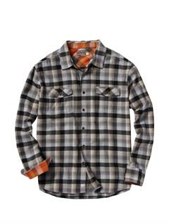 SLA0Men s Hazard Cove Long Sleeve Flannel Shirt by Quiksilver - FRT1
