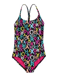 KVJ7Girls 2-6 Roxy Border Tiki Tri Set Swimsuit by Roxy - FRT1