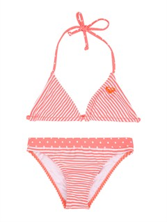 MKL7Girls 7- 4 Doll Face Dot Tiki Tri Set Swimsuit by Roxy - FRT1