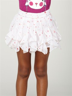 WBS6Girls 2-6 White Sand Skirt by Roxy - FRT1