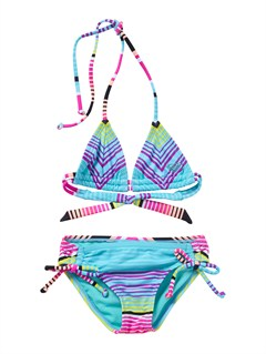 MLW7Girls 2-6 Roxy Border Tiki Tri Set Swimsuit by Roxy - FRT1