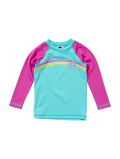 BJR0From above Toddler LS Rashguard by Roxy - FRT1