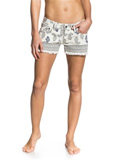 WDV6Smeaton Denim Print Shorts by Roxy - FRT1