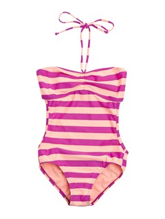 MNF4Girls 7- 4 Doll Face Dot Drawstring Bandeau Set Swimsuit by Roxy - FRT1