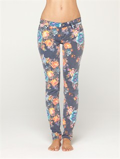 BTN6Suntrippers Crop Camo Jeans by Roxy - FRT1