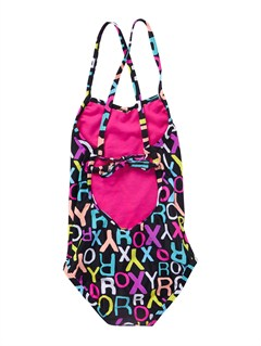 KVJ7Girls 2-6 Blooming Bliss Rio Halter Bikini Set by Roxy - FRT1