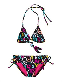 KVJ7Girls 2-6 Doll Face Tiki Tri Set Swimsuit by Roxy - FRT1
