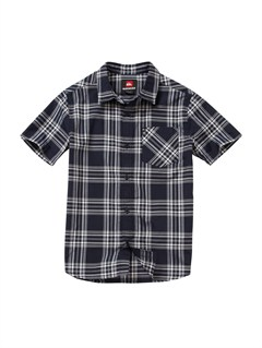 KTP0Boys 8- 6 Box Plaid Long Sleeve Shirt by Quiksilver - FRT1