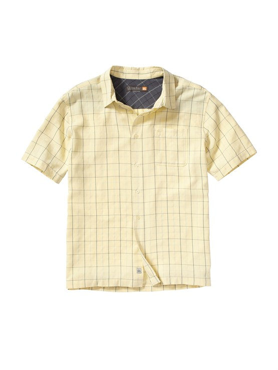 YDJ0Men s Aganoa Bay Short Sleeve Shirt by Quiksilver - FRT1