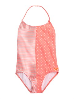 MKL7Girls 7- 4 Doll Face Dot 70s Halter Set With Cups Swimsuit by Roxy - FRT1