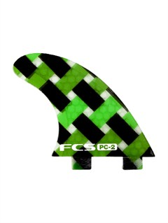 GRNFCS 2 Green Tri Fin Set by Quiksilver - FRT1