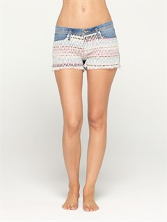 BSFWBlaze Embroidered Cut Offs Jean Shorts by Roxy - FRT1