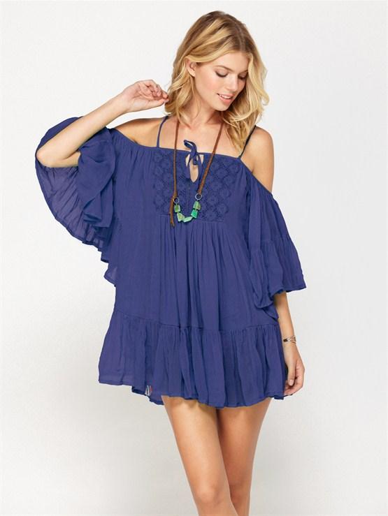 PQS0Shore Thing Dress by Roxy - FRT1