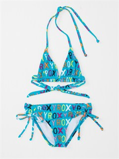 CABGirls 2-6 Bright as Roxy Fringe Tiki Tri Bikini Set by Roxy - FRT1