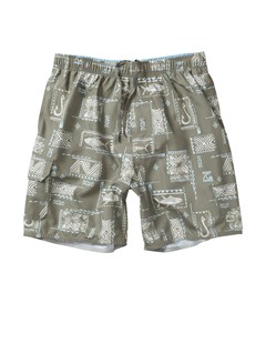 "TMS0Butt Logo  7"" Volley Boardshorts by Quiksilver - FRT1"