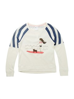 WBS0Girls 7- 4 Believe Printed B Sweater by Roxy - FRT1