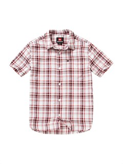 RQV0Boys 8- 6 Box Plaid Long Sleeve Shirt by Quiksilver - FRT1