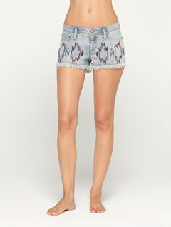 BQMWBlaze Embroidered Cut Offs Jean Shorts by Roxy - FRT1