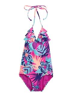 BGD7Girls 2-6 Doll Face Tiki Tri Set Swimsuit by Roxy - FRT1