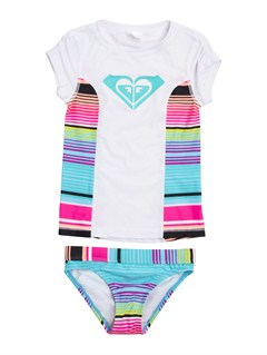 MLW7Girls 2-6 Doll Face Tiki Tri Set Swimsuit by Roxy - FRT1