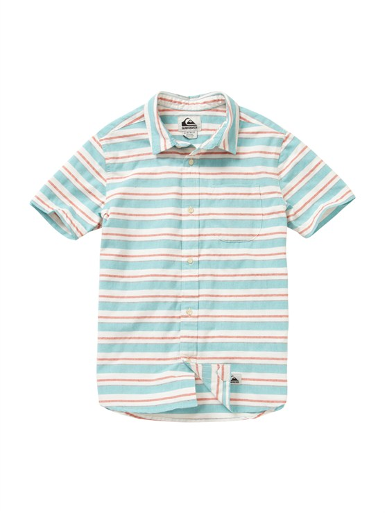 BLK0Boys 8- 6 Haano Short Sleeve Shirt by Quiksilver - FRT1