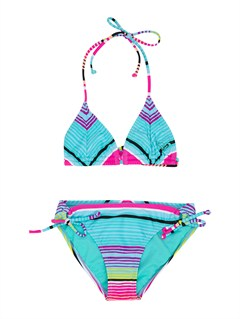 MLW7Girls 7- 4 Wild and Free Tiki Triangle Bikini Set by Roxy - FRT1