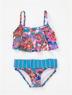 PKY6Girls 2-6 Bright as Roxy Fringe Tiki Tri Bikini Set by Roxy - FRT1