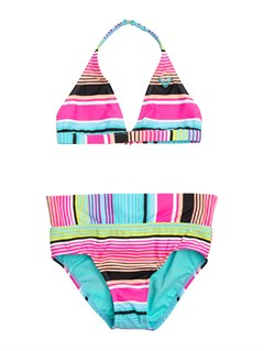 MLW7Girls 7- 4 Peaceful Dreamer Criss Cross Tankini Set Swimsuit by Roxy - FRT1