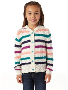 GRL3Girls 2-6 Quiet Whiper Cardigan by Roxy - FRT1