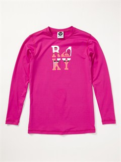 PNKFrom Above LS Girls Rashguard by Roxy - FRT1