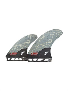 GRYFCS 2 Green Tri Fin Set by Quiksilver - FRT1