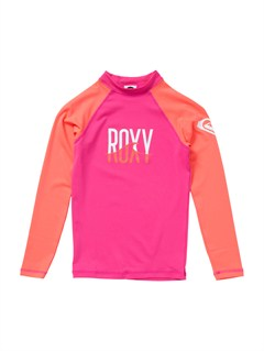 MLR0Girls 7- 4 High Light LS Rashguard by Roxy - FRT1