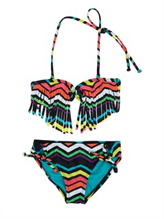 KVJ4Girls 2-6 Doll Face Tiki Tri Set Swimsuit by Roxy - FRT1