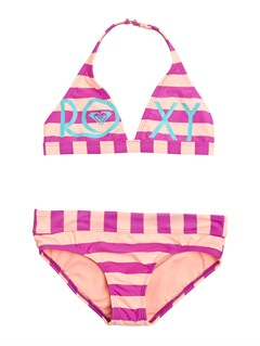 MNF4Girls 7- 4 Doll Face Dot 70s Halter Set With Cups Swimsuit by Roxy - FRT1