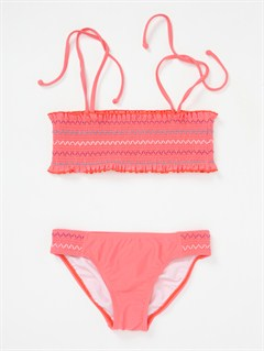 MLNGirls 7- 4 Dancing Waves Smocked Bandeau Set by Roxy - FRT1