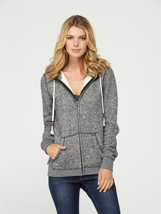 KVJ0Glacial 2 Zip Up Hooded Fleece by Roxy - FRT1