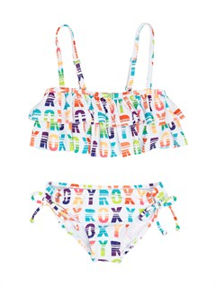 WBB7Girls 2-6 Doll Face Tiki Tri Set Swimsuit by Roxy - FRT1