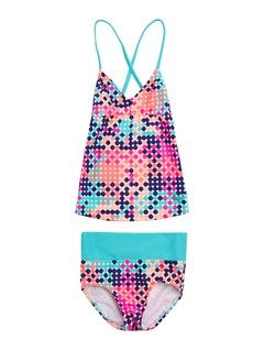 MKL7Girls 7- 4 Peaceful Dreamer Criss Cross Tankini Set Swimsuit by Roxy - FRT1