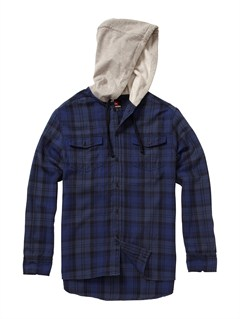KTP0Fuzzy Goggles Long Sleeve Flannel Shirt by Quiksilver - FRT1